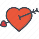 arrow, cupid, day, heart, holiday, love, valentines icon