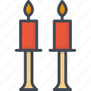 candle, day, holiday, love, romantic, valentines icon