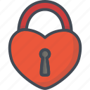 day, heart, holiday, lock, love, valentines icon