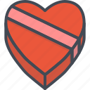 box, chocolate, day, gift, heart, holiday, valentines icon