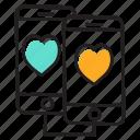 app sharing, data sharing, data transformation, mobile data transfer, personal data transfer, sharing love icon