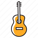 acoustic guitar, electric guitar, guitar, guitar design, musical instrument icon