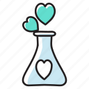 liquid flask, love potion, magic potion, potion, potion bottle icon
