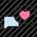 love messages, love sms, message bubbles, romantic messages, valentine message icon