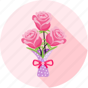 bouquet, flower, love, romantic, rose, valentine, wedding icon