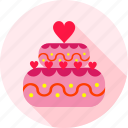 cake, celebration, dessert, food, sweet, wedding, wedding cake icon