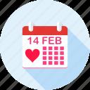 calender, date, love, romance, valentine, valentine day, valentines day icon