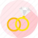diamond, engagement, jewel, jewellery, love, ring, wedding icon