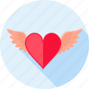 flying, heart, love, romance, valentines, wing, wings