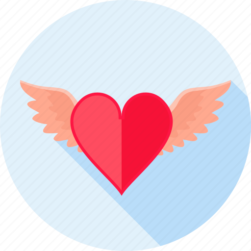 flying, heart, love, romance, valentines, wing, wings icon