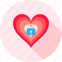 heart, lock, key, protection, romantic, valentine, love