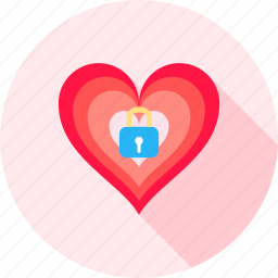 heart, key, lock, love, protection, romantic, valentine icon