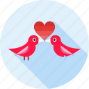 birds, love, lovebirds, romance, valentine's, valentines, wedding icon