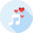 love, love song, melody, music, romance, romantic, song icon