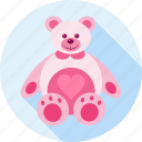 bear, gift, hug, love, teddy, teddy bear, toy icon