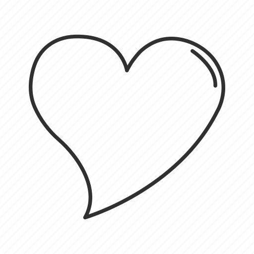 favorite, heart, heart outline, love, romantic, valentines, valentines day icon