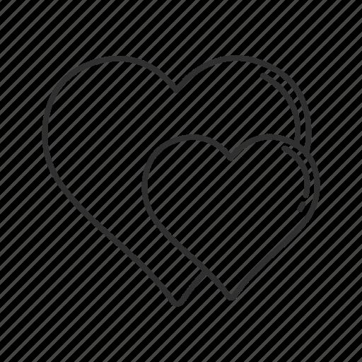 favorite, heart, hearts, love, romantic, valentines, valentines day icon