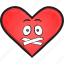 cartoon, day, emoji, face, heart, smiley, valentines icon