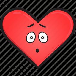 cartoon, day, emoji, face, heart, smiley, valentines icon