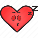 cartoon, day, emoji, face, heart, smiley, valentines