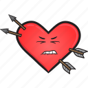 heart, smiley, valentines, cartoon, face, day, emoji