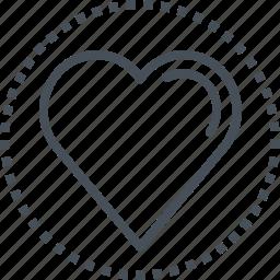 hearth, love, valentines day icon