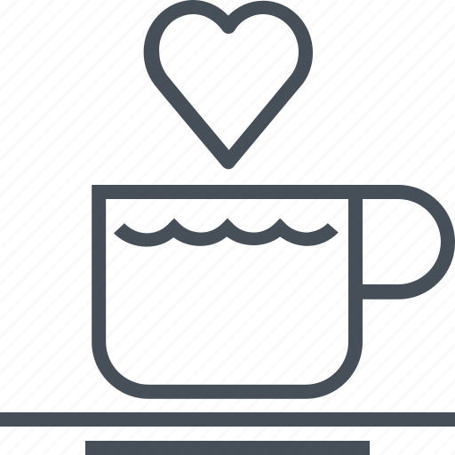 coffee, drink, hearth, hot, love, valentines day icon