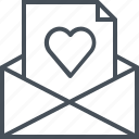 email, hearth, letter, love, mail icon