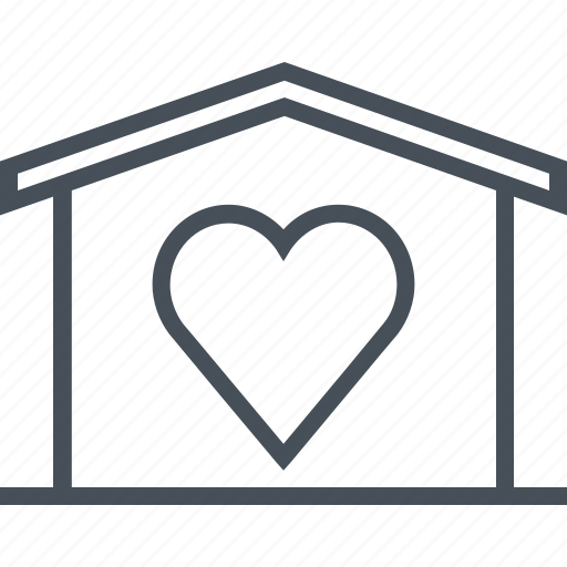 hearth, home sweet home, house, love, valentines day icon