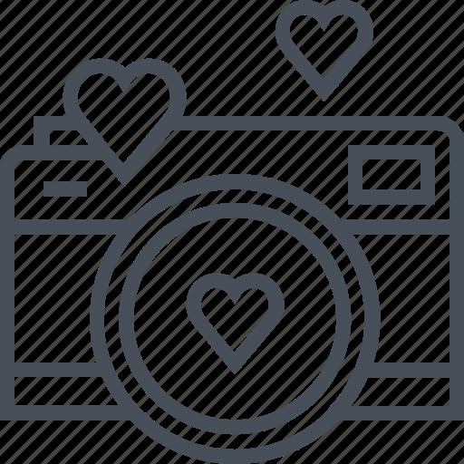 camera, hearth, love, photo, valentines day icon