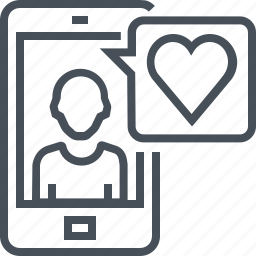 boy friend, chat, love, message, mobile phone, valentines day icon