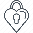 hearth, love, padlock, valentines day icon