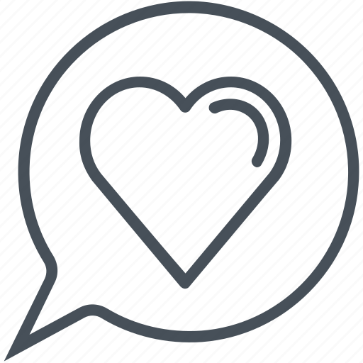 hearth, love, lovely, speech bubble, valentines day icon