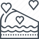 cake, celebrate, love, share, valentines day icon
