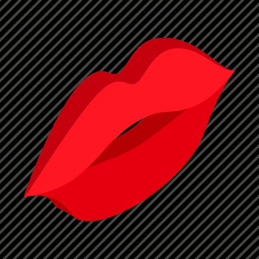 feelings, hot, human, isometric, kissing, lips, smile icon