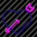valentine, arrow, heart, love, romance