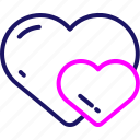 heart, love, romance, valentine, valentines, wedding icon