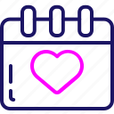 color, date, day, love, valentine, valentines icon