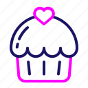 cake, cookies, gift, heart, love, valentine icon