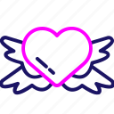 color, gift, heart, love, romance, romantic, valentine icon
