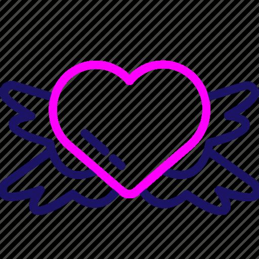 Valentine, gift, heart, love, romance, romantic icon - Download on Iconfinder