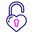 heart, lock, love, romance, romantic, unlock, valentine, valentines icon