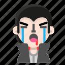 avatar, crying, dracula, emoji, halloween, horror, vampire