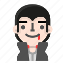 avatar, dracula, emoji, halloween, happy, horror, vampire icon