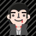 avatar, dracula, emoji, halloween, happy, horror, vampire
