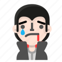 avatar, dracula, emoji, halloween, horror, tear, vampire icon
