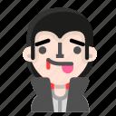 avatar, dracula, emoji, halloween, horror, tongue, vampire