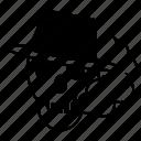 deadly, death sign, head, killer, skull, smoker, smoking effect icon