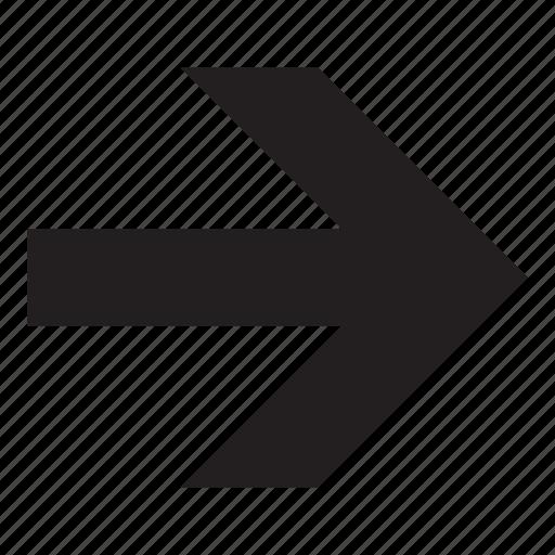 arrow, end, next, right icon