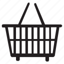 basket, cart, restaurant, shoping icon